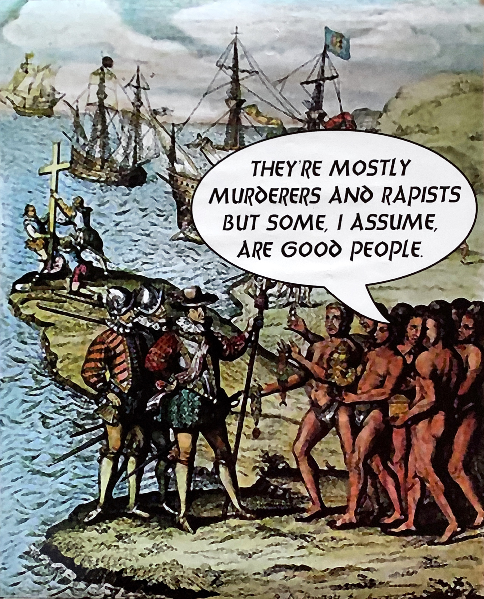 """Colubus Meeting the """"Natives"""""""