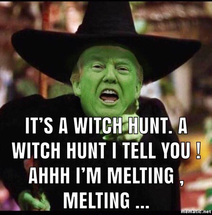 Trump as The Wicked Witch of The West
