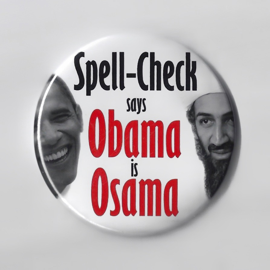 Spell-Check Says Obama is Osama