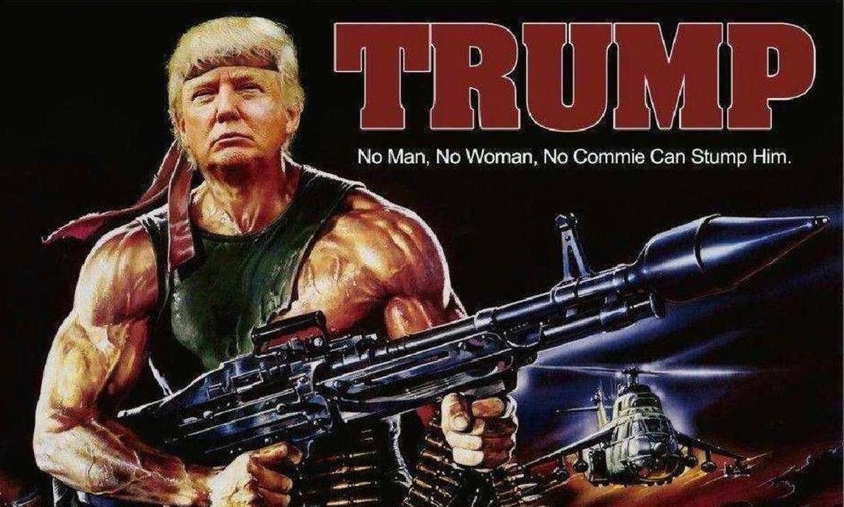 Trump as Rambo