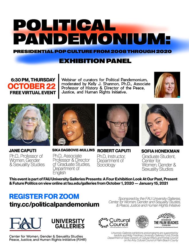 Political Pandemonium Event Poster Oct.