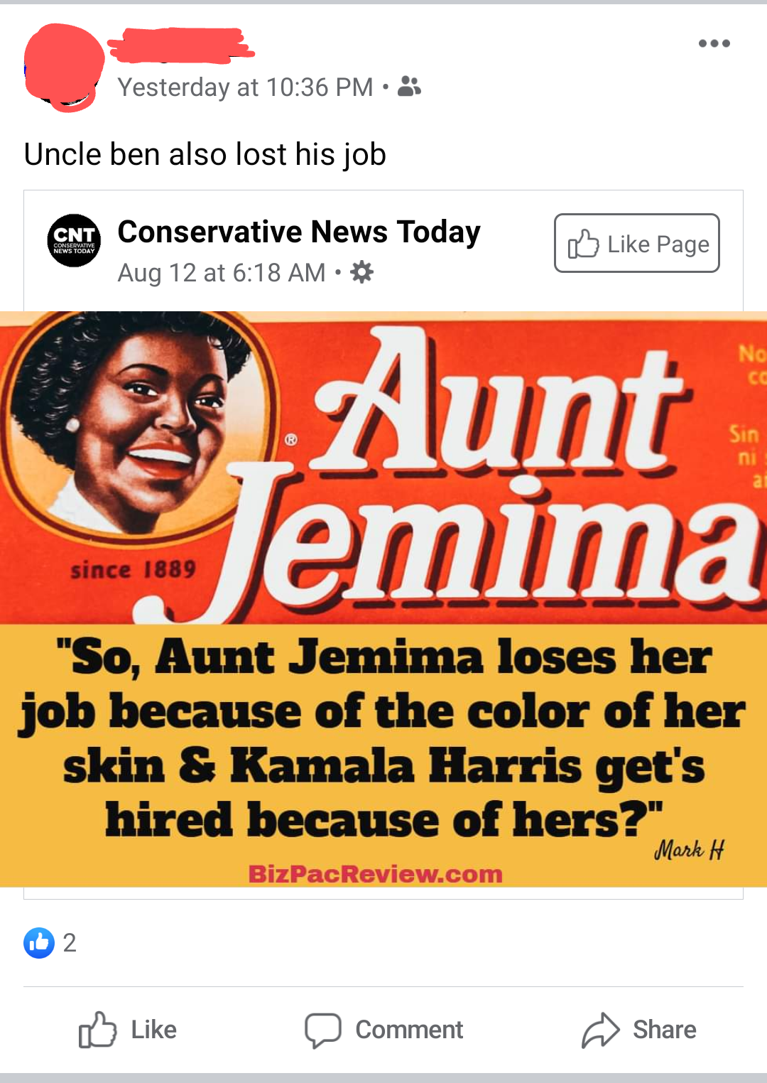 Aunt Jemima Loses Her Job