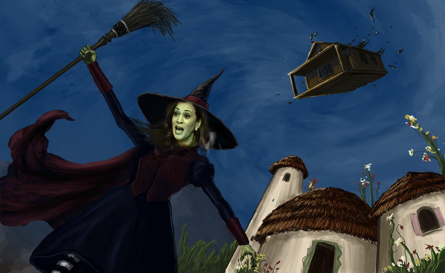 Kamala Harris as The Wicked Witch of the West