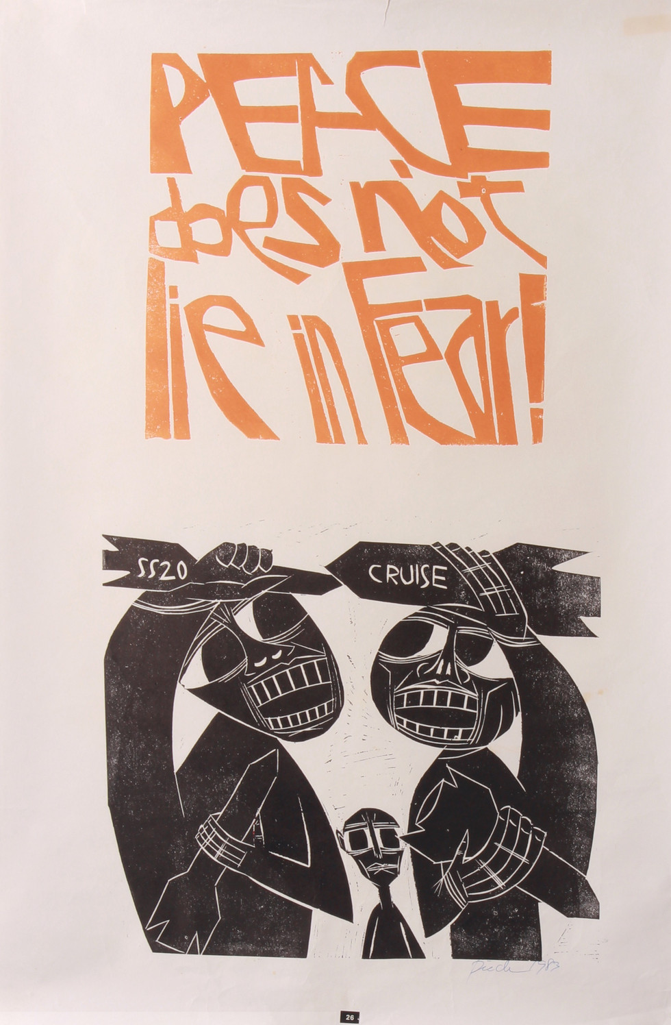 Peace Does Not Lie in Fear, 1983