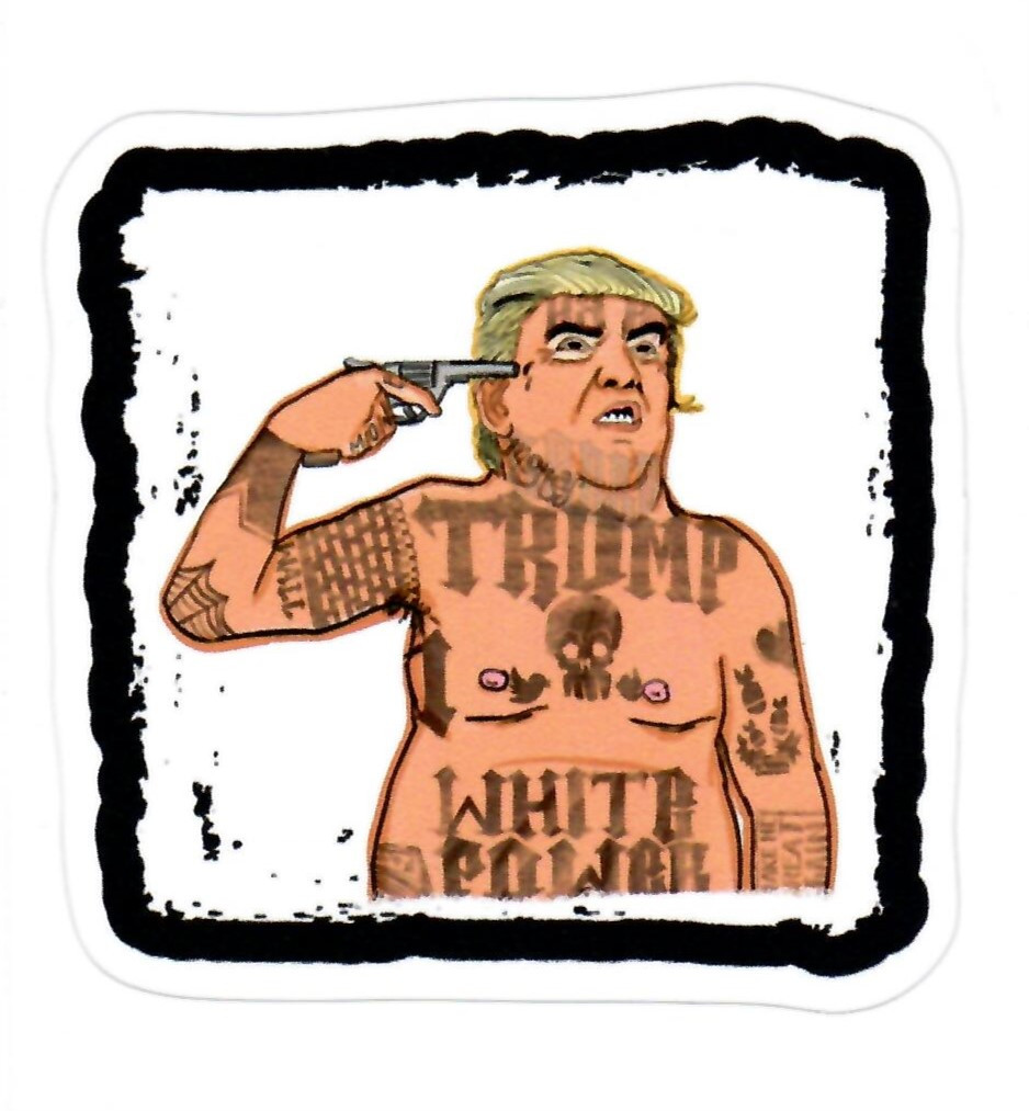 Trump with White Power Tattoos