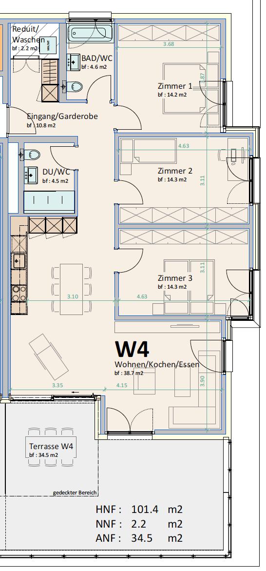 029_A_4.5_Zimmer Wohnung im 1.OG und 2.O