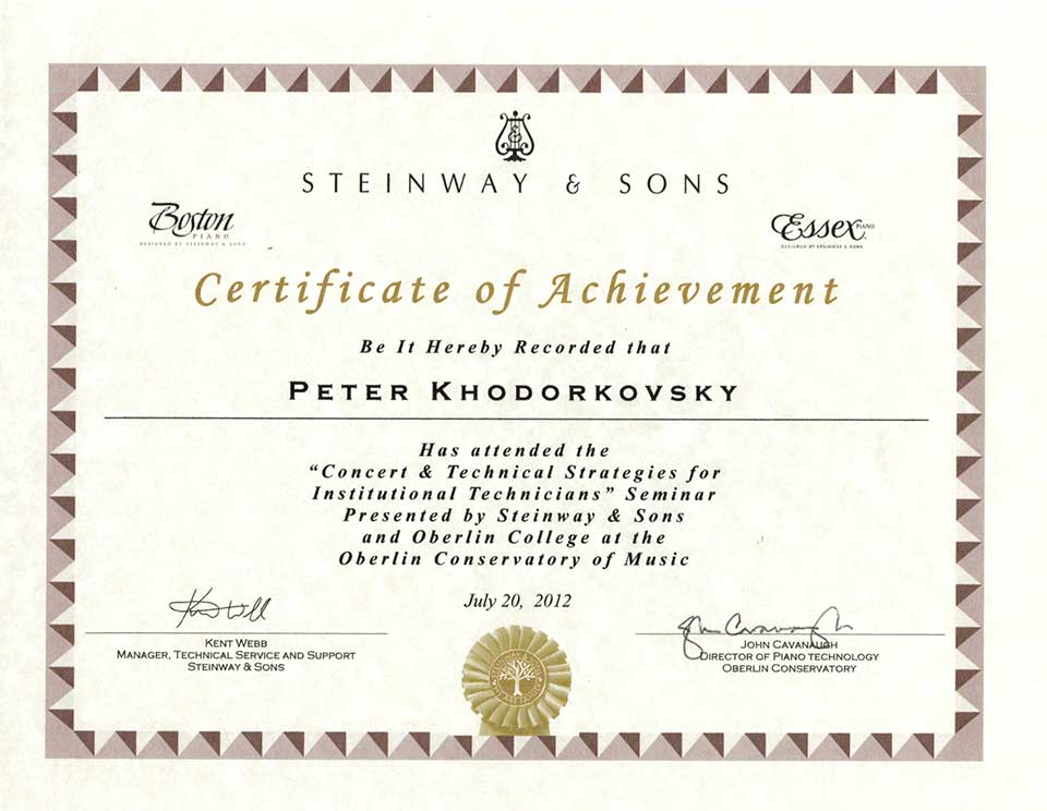 Steinway&Sons 2012
