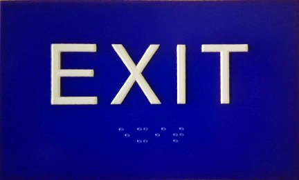 "5""x3"" EXIT Sign"