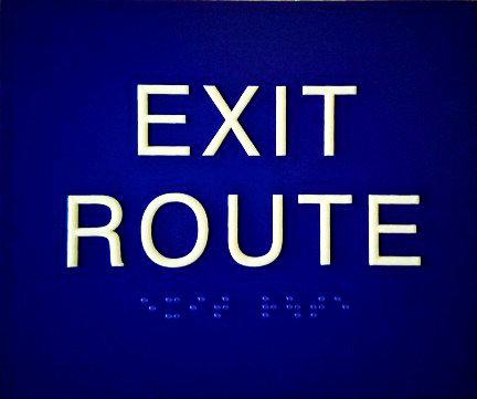 "6""x5"" Exit Route Sign"