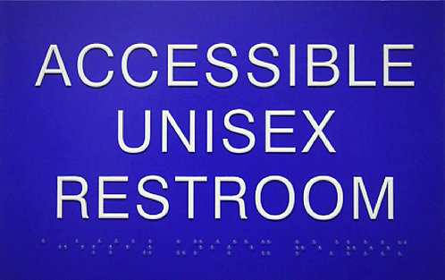 """Accessible Unisex Wall Sign 8""""x5"""" - No Icons"""