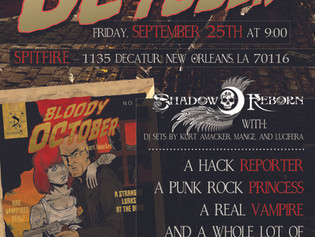 Bloody October First Chapter, Preorders, and Release Party