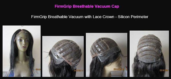 FirmGrip Breathable Vacuum with Lace Crown - Silicon Perimeter