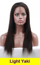 Light Yaki glueless lace wig