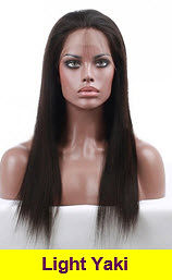 Light Yaki glueless lace wig