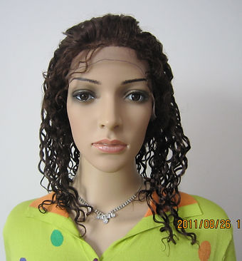 Glueless cap three full wig