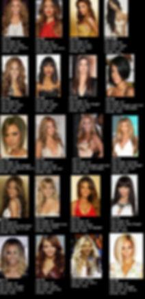 Celebrity hair styles