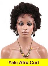 Yaki Afro Curl full lace wigs