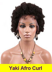 Yaki Afro Curl glueless lace wig
