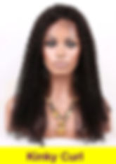 Kinky Curl glueless lace wig
