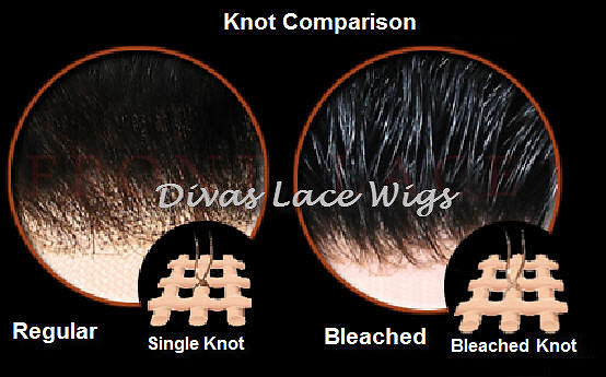 Knot comparison between bleach and unbleached