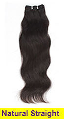 natural straight weft
