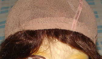 Glueless cap one  inside forehead