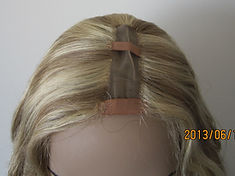 U Part wig showing outside center part