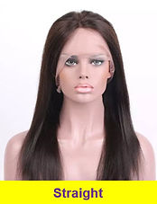 straight glueless lace wig
