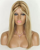 Full lace wig blond hair
