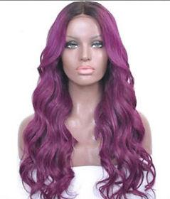 Purple lace wig