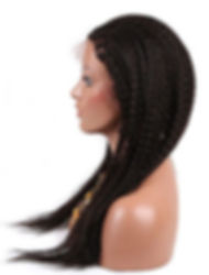 Straigh braided hair texture side