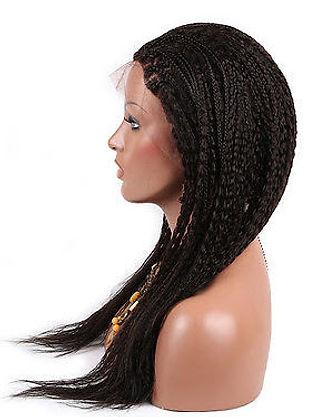 Straigh braided hair texture side