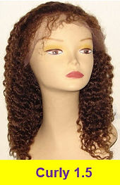 curly 1.5 glueless lace wig