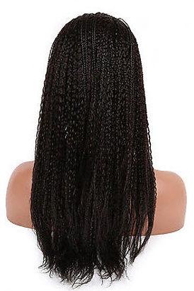 Straigh braided hair texture back
