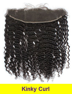 kinky curl lace frontal