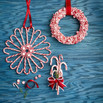 DIY Candy Cane Door Decor