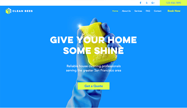 services maintenance website templates cleaning service