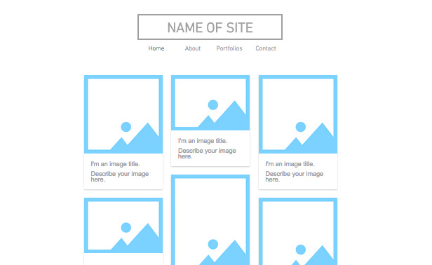 empty website template