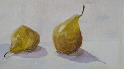Twee groene peren
