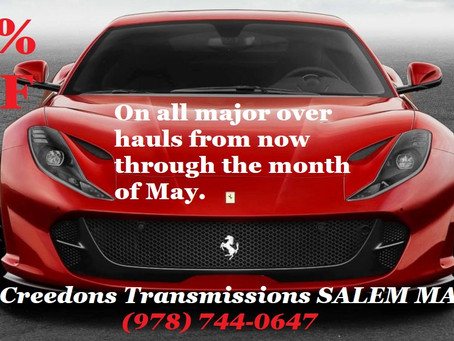 10% Discount On ALL major Over Hauls from now through May 2021