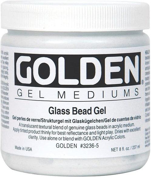 8oz Golden Glass Bead Gel Medium