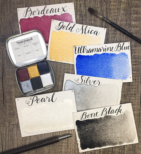Stoneground Watercolor Small Calligraphy Palette