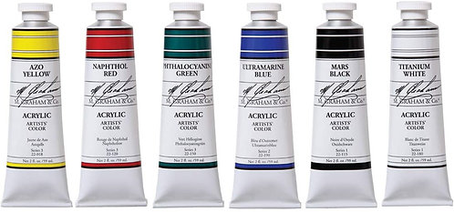59mL M. Graham Acrylic Paints Series 2