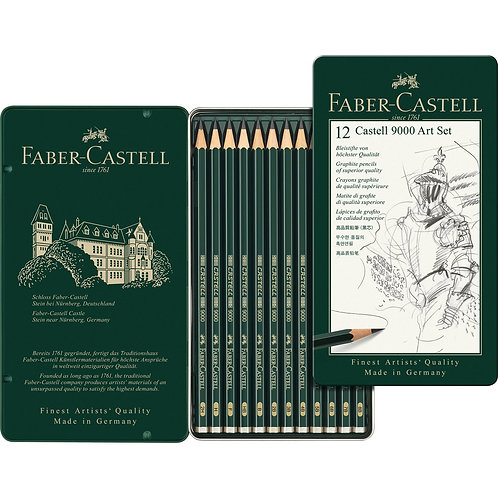 Faber Castell 9000 Set of 12 Graphite Pencils