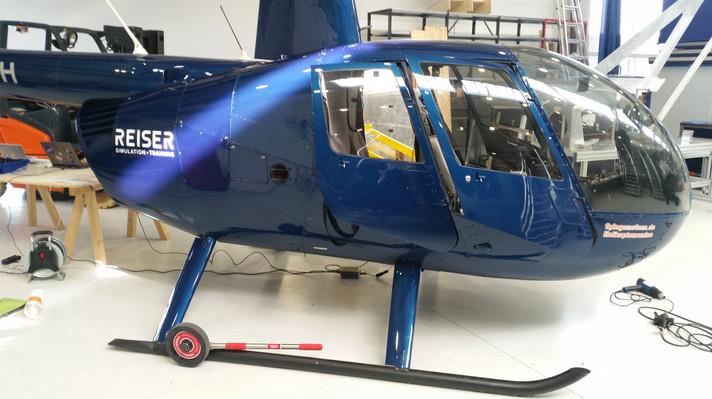 Helikopter Folienbeschriftung