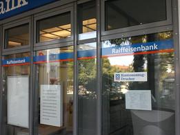 Schaufensterbeschriftung für die Volksbank