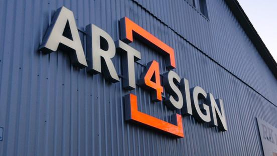 Lichtwerbeanlage von Art 4 Sign