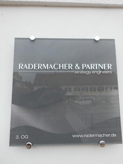Leitschild für Radermacher