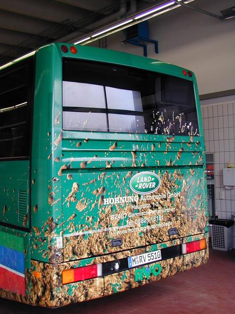 Bus Foliendruck Aufkleber