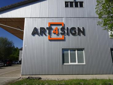 Art 4 Sign 3D Buchstaben als Außenwerbung